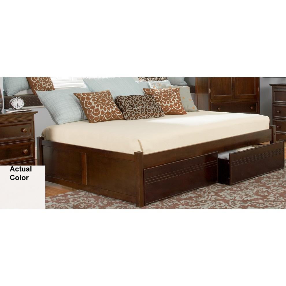 Atlantic Furniture 1002240 Concord Twin Bed With 2 Flat Panel Footboards White