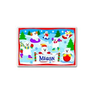 Olive Kids Personalized Laminate Placemat - Polar Bears