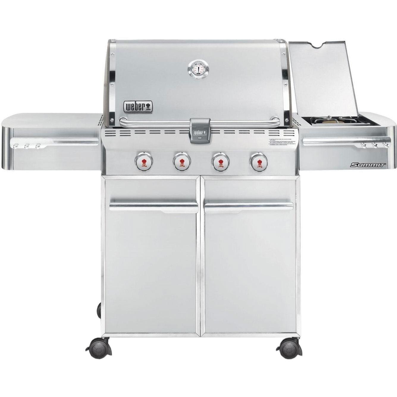 sales for weber summit s 420 propane gas grill on cart. Black Bedroom Furniture Sets. Home Design Ideas