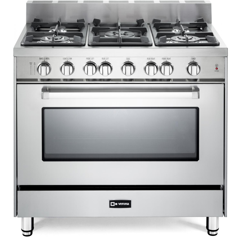 verona vefsgg365nss 36 inch 5 burner gas range stainless steel ebay. Black Bedroom Furniture Sets. Home Design Ideas
