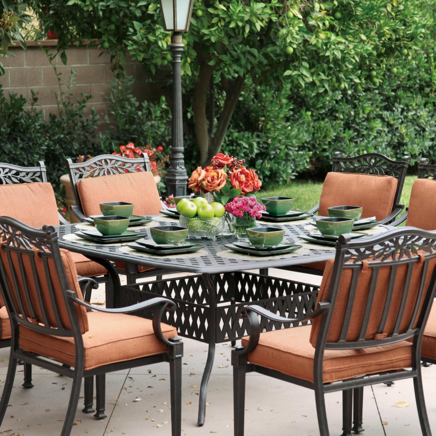 Darlee Charleston 8-person Cast Aluminum Patio Dining Set - Antique Bronze at Sears.com