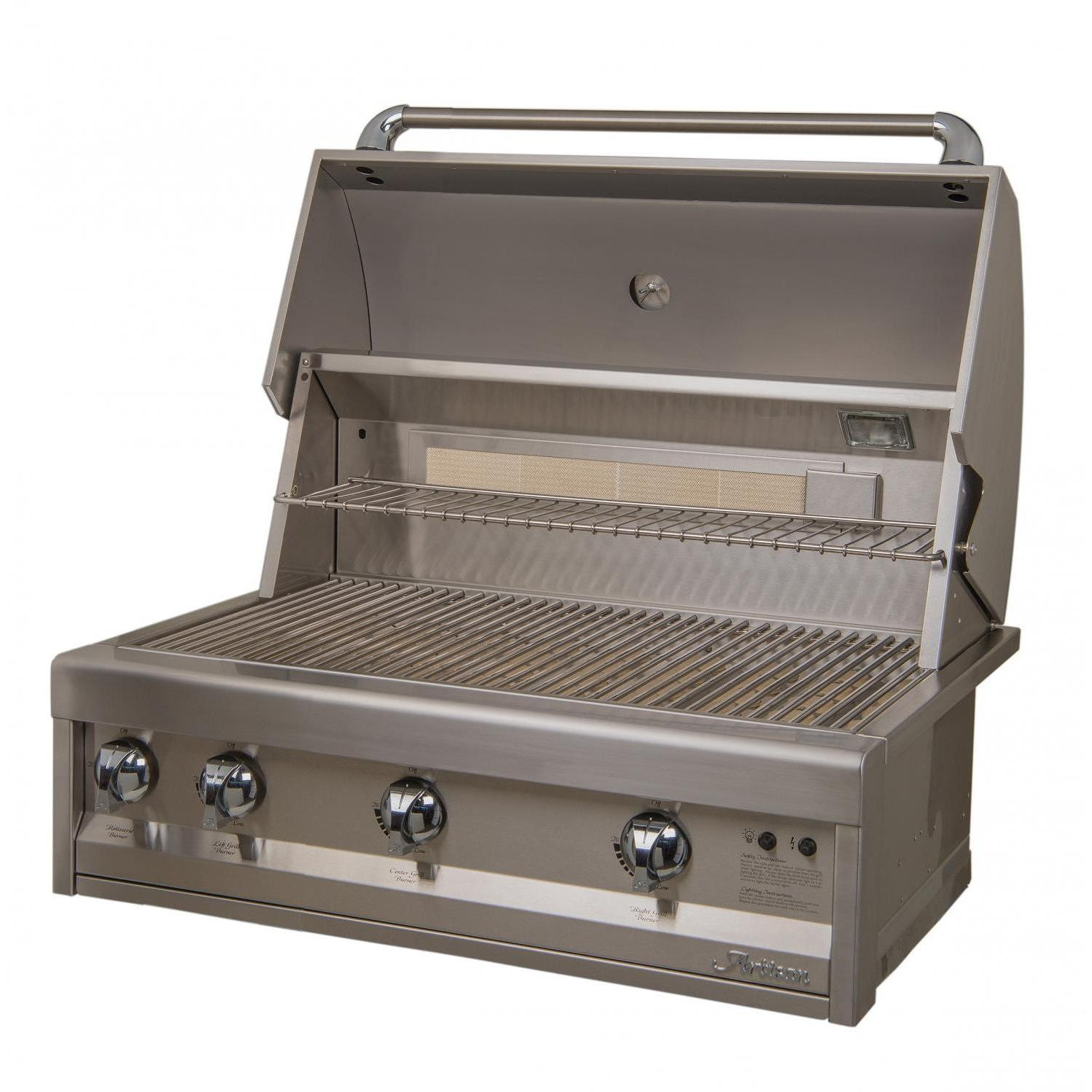 Artisan Classic By Alfresco 32-Inch Built-in Propane Gas Grill With Rotisserie 2872696