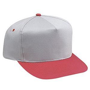 Otto Cap Cotton Twill Pro-Style Sport Cap - Red / Gray, Discount ID 31-070-0214