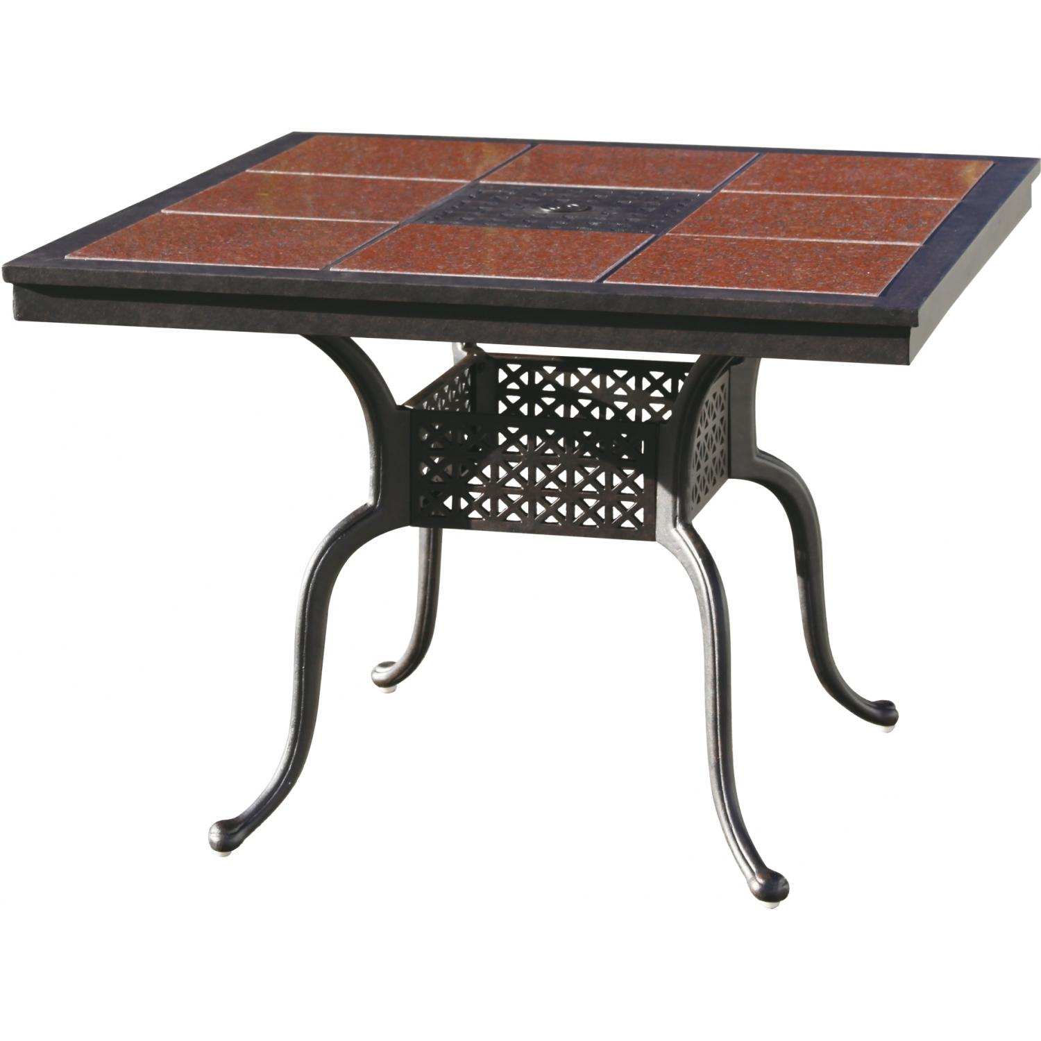 Darlee Series 77 Cast Aluminum Patio Dining Table With Granite Top - Antique Bronze / Ruby Granite Tile at Sears.com