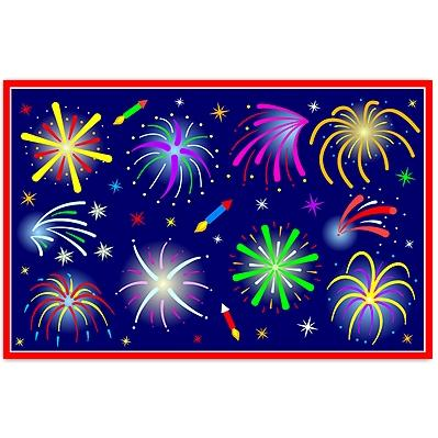 Olive Kids Laminate Placemat - July Fireworks