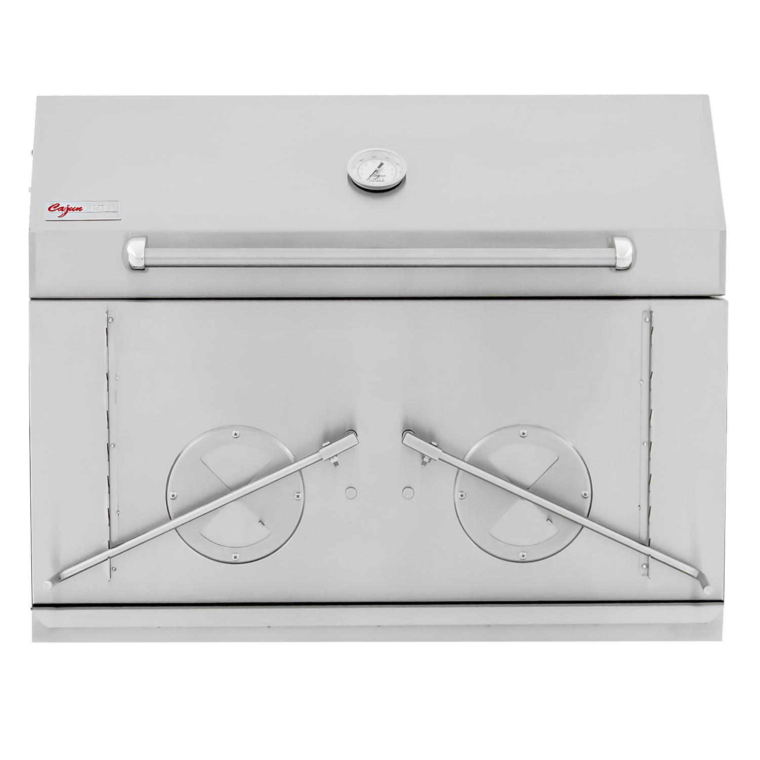 """Cajun Grill Preaux 36"""" Built-in Stainless Steel Charcoal Grill - Pgi-900"""