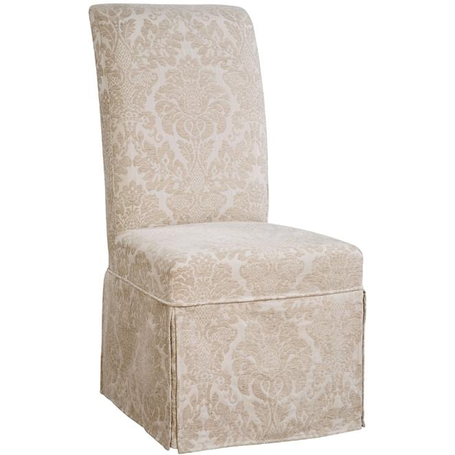 Powell Furniture - Center Match Fleur-de-lis Tone-on-Tone Tapestry Skirted Slip Over - Pack 1 (Fits 741-440 Chair) - 741-206Z
