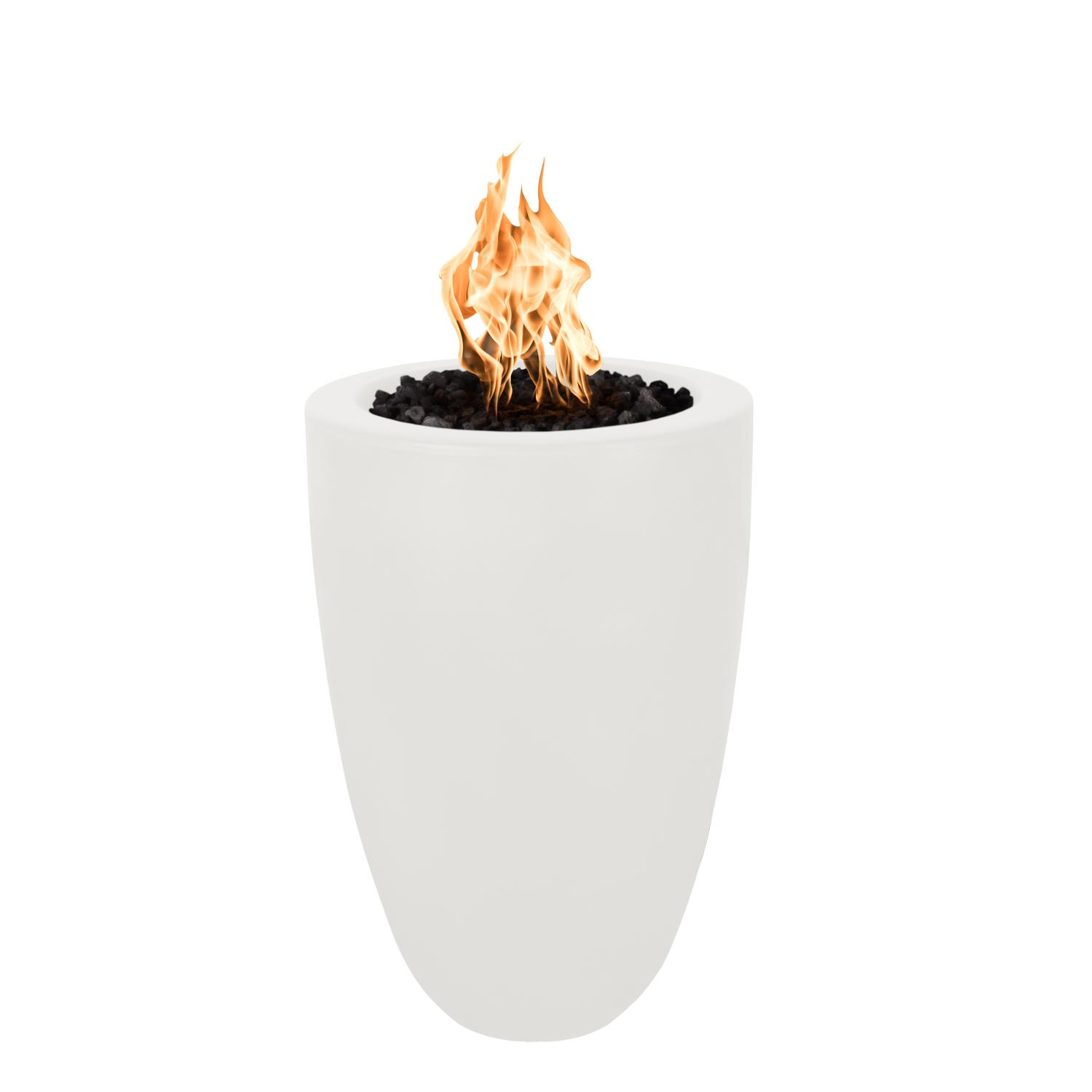 The Outdoor Plus Top Fires by Castillo 33 Natural Gas Fire Pillar - Limestone Concrete - Match Light - No Access Door - OPT-CST022-LIM-NG