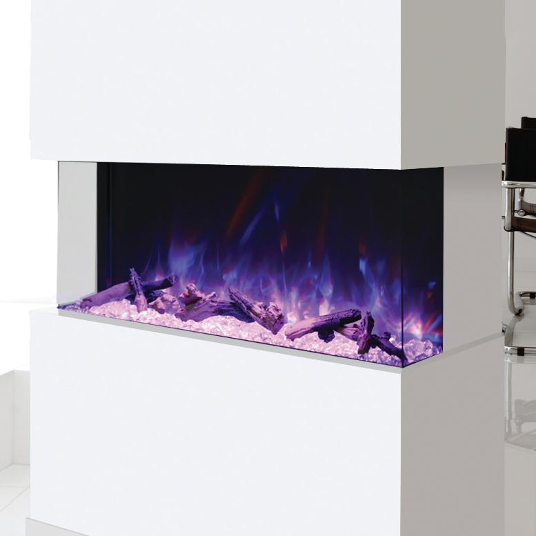 "Amantii Tru View 50"" Built-in Three Sided Electric Fireplace - Indoor/outdoor - 50-tru-view-xl"