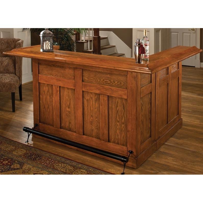 Hillsdale Classic Wrap Around Large Bar - Oak - 62576AXOAK