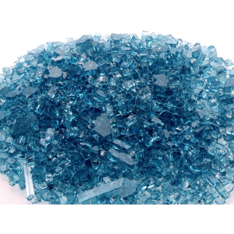Peterson Fyre Glass Caribbean Blue Fire Glass – 10 Lbs