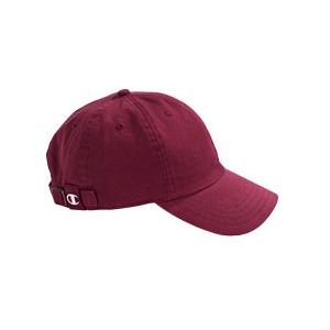 Champion Brushed Cotton 6-Panel Cap - Maroon