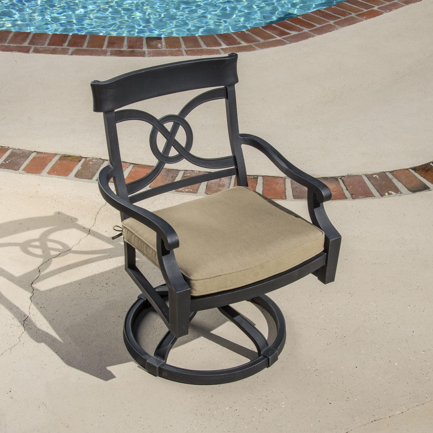Lakeview Outdoor Designs St. Charles Cast Aluminum Swivel Rocker Patio Dining Chair at Sears.com