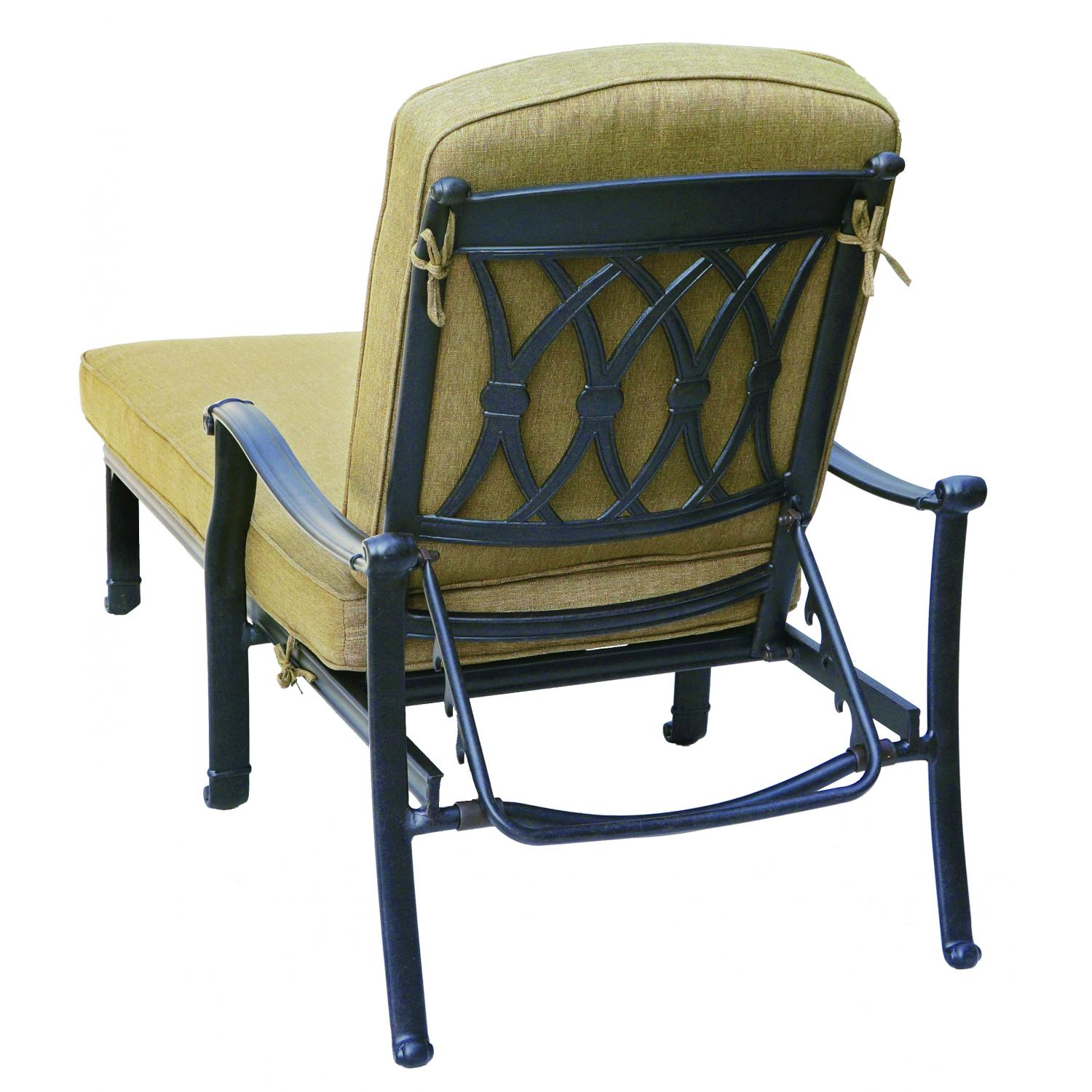 Darlee san marcos cast aluminum patio chaise lounge for Ashley san marco chaise