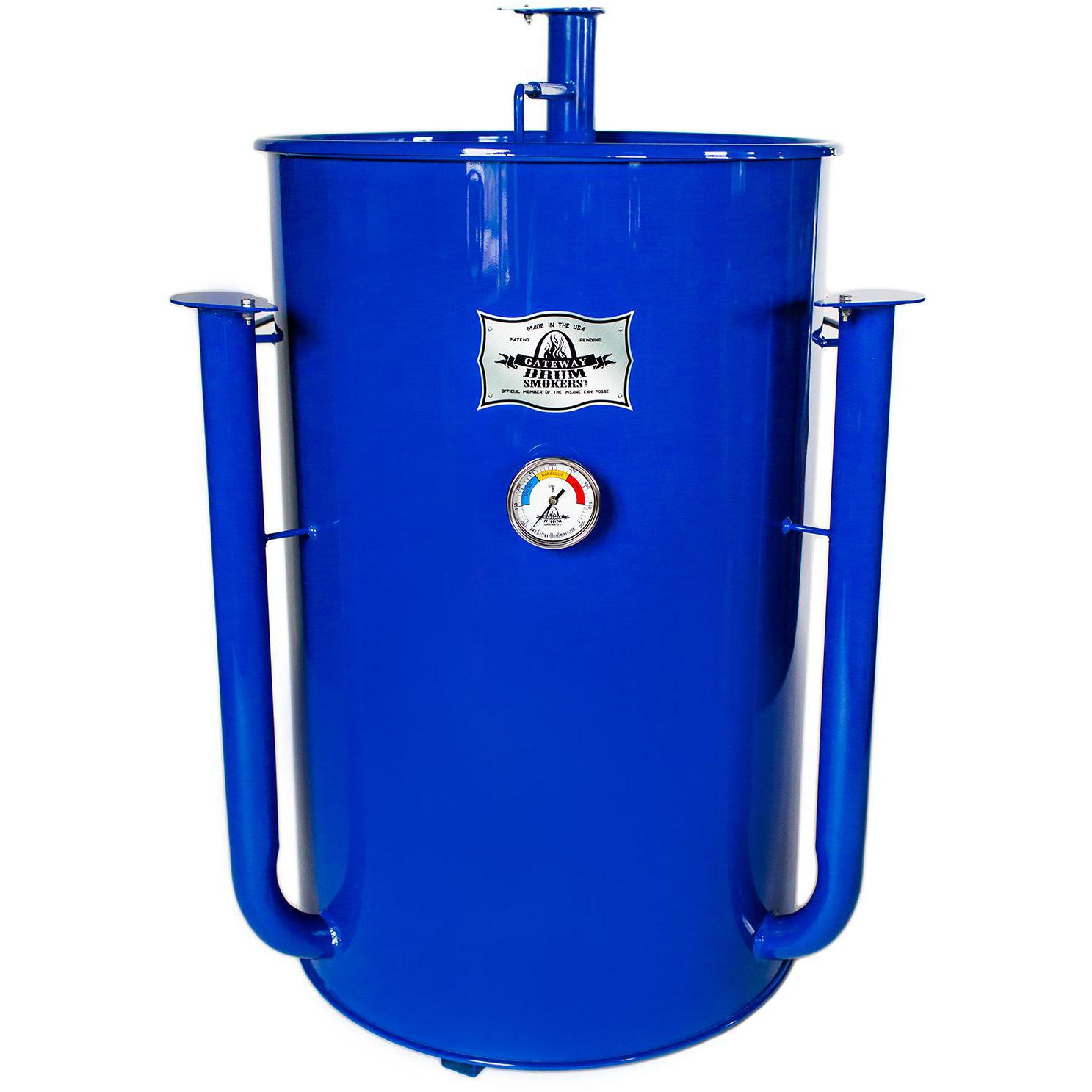 Gateway Drum Smokers 55 Gallon Charcoal BBQ Smoker - Royal - 55144