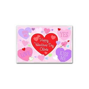 Olive Kids Personalized Laminate Placemat - Valentines Day Love