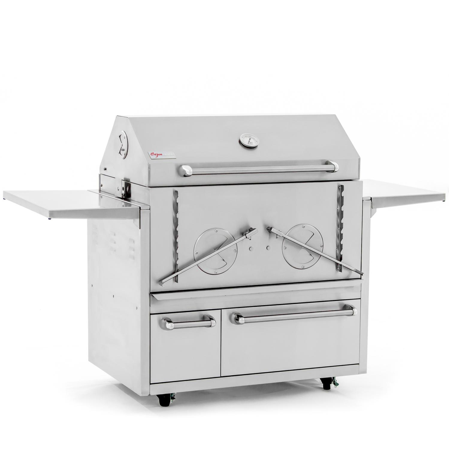 """Cajun Grill Preaux 36"""" Stainless Steel Charcoal Grill - Pgi-900 + 900cart"""