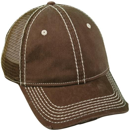 Outdoor Cap Heavy Construction Stitch Cap Brown