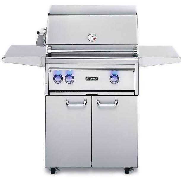 Lynx 27-Inch Propane Gas Grill On Cart With ProSear Burner And Rotisserie L27PSFR-3-LP 2855978
