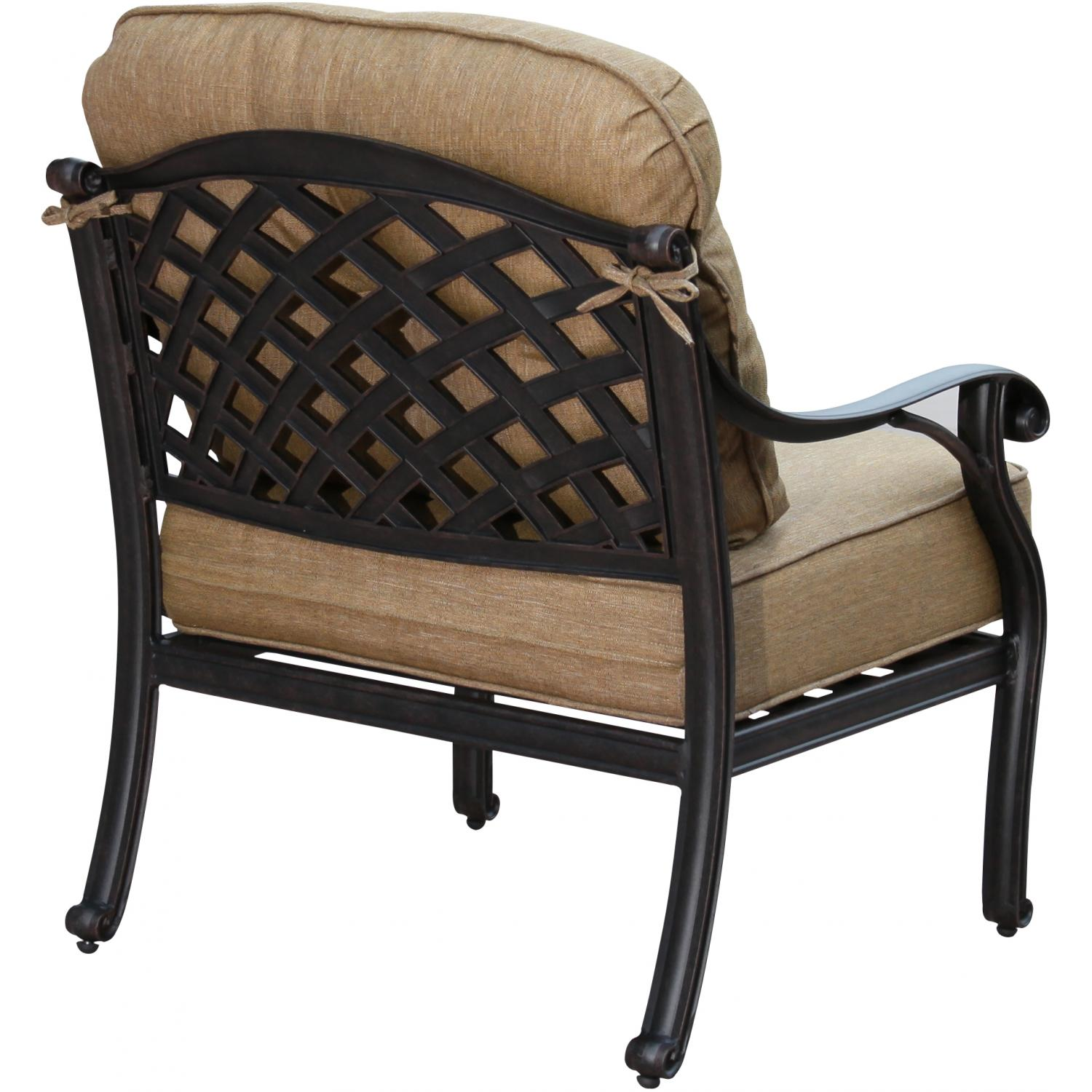 Darlee nassau cast aluminum deep seating patio lounge for Aluminum patio chairs