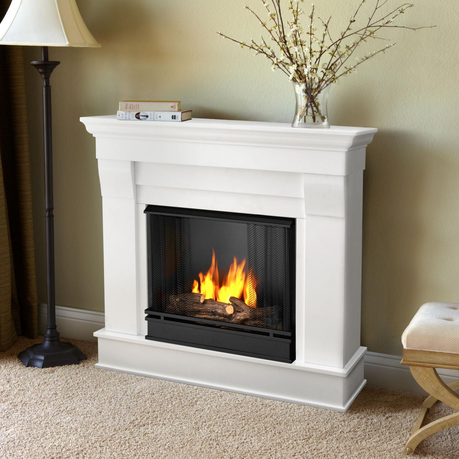 Real Flame Chateau 40-Inch Gel Fireplace - White