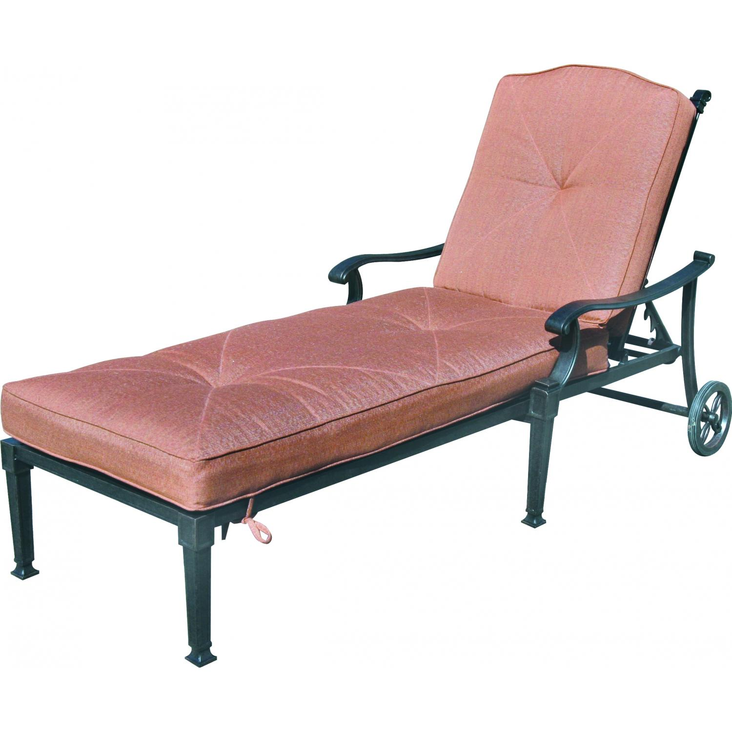 Picture of Darlee Charleston Cast Aluminum Patio Chaise Lounge - Antique Bronze
