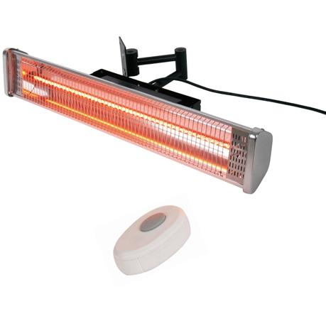 Picture of AZ Patio Heaters 24-Inch 1500 Watt Infrared Electric Patio Heater - Stainless Steel