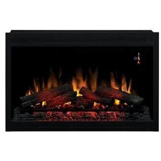 ClassicFlame 36EB110-GRT Traditional 36 Inch Builders Box Built-In Electric Fireplace - Black - 110V