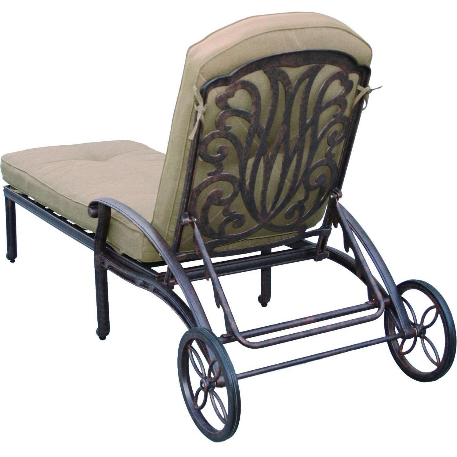 Picture of Darlee Elisabeth Cast Aluminum Patio Chaise Lounge - Antique Bronze