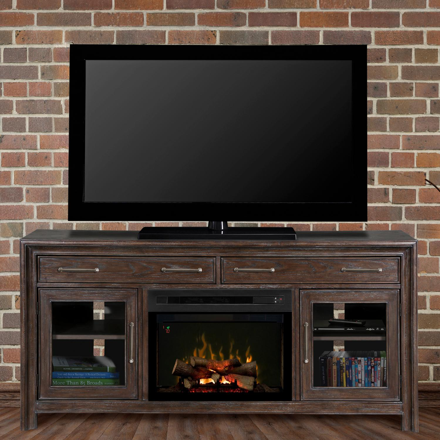 Dimplex Woolbrook 68-inch Electric Fireplace Media Console - Nutmeg - Gds25l-1415wbn