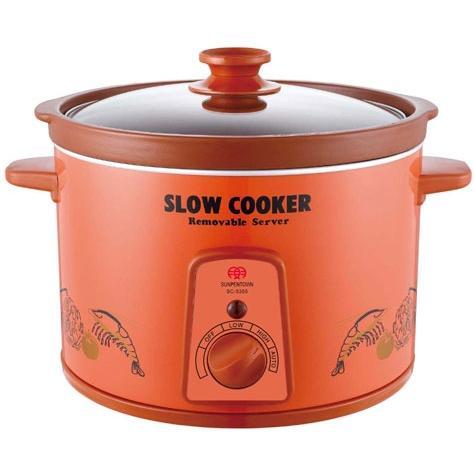 Sunpentown Slow Cookers Orange Zisha Slow Cooker - SC-5355