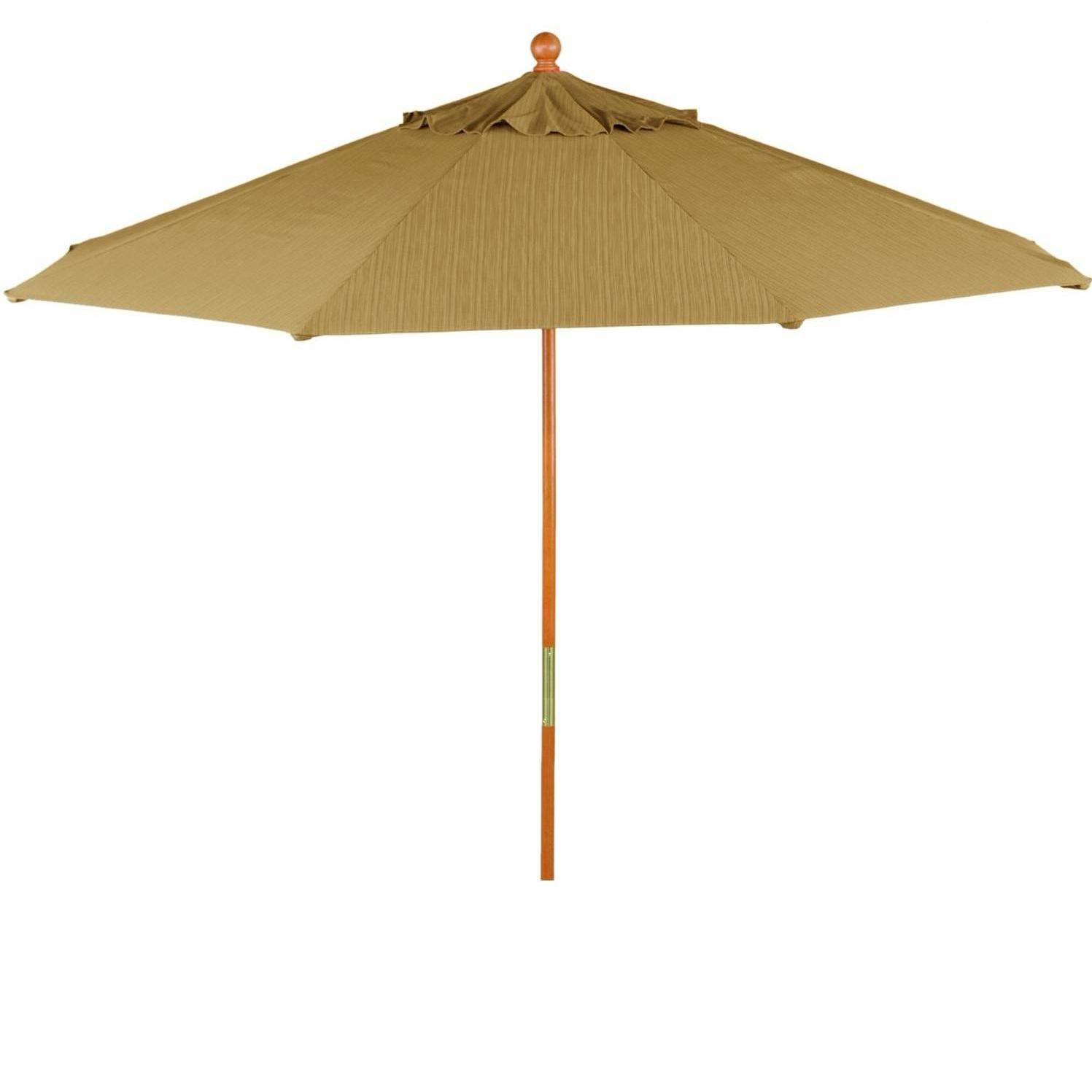 Oxford Garden 6 Ft. Octagon Wood Patio Umbrella With Push Lift - Dupione Walnut