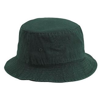 Otto Cap Garment Washed Cotton Twill Bucket Hat L/XL - Dk.Green