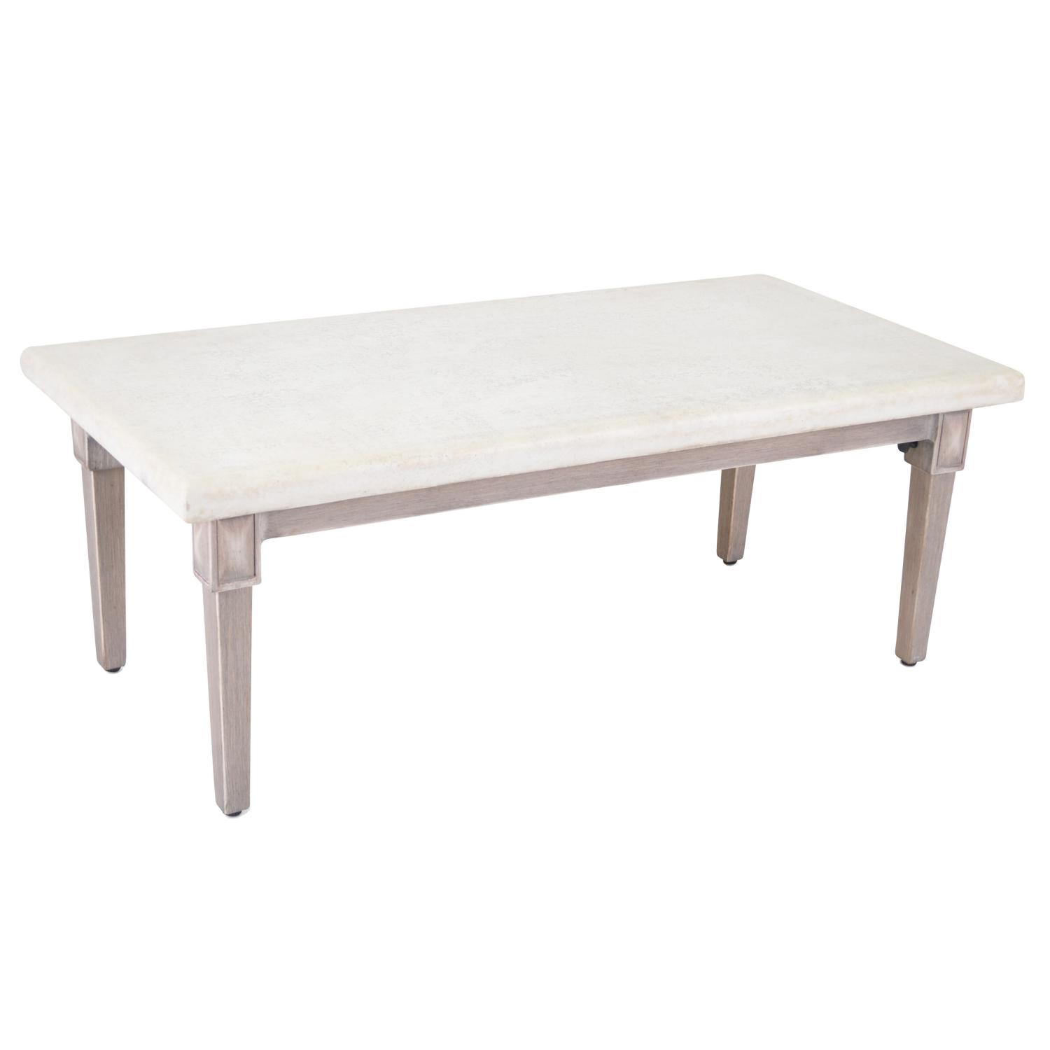 Plank & Hide Pelham Rectangular Cast Aluminum 48 X 24 Inch Patio Coffee Table - 20008-BRL