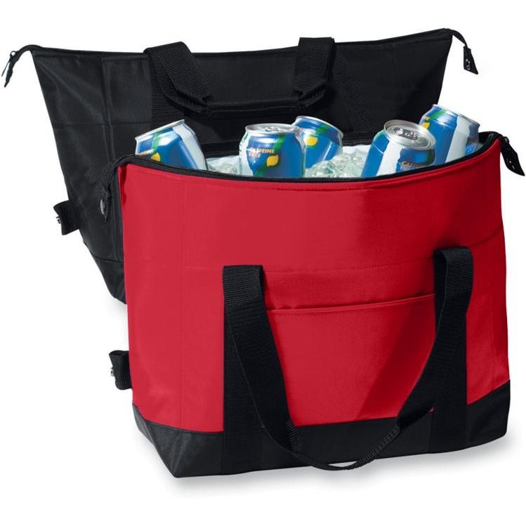 Augusta 12-Pack Two-Color Expandable Cooler - Red