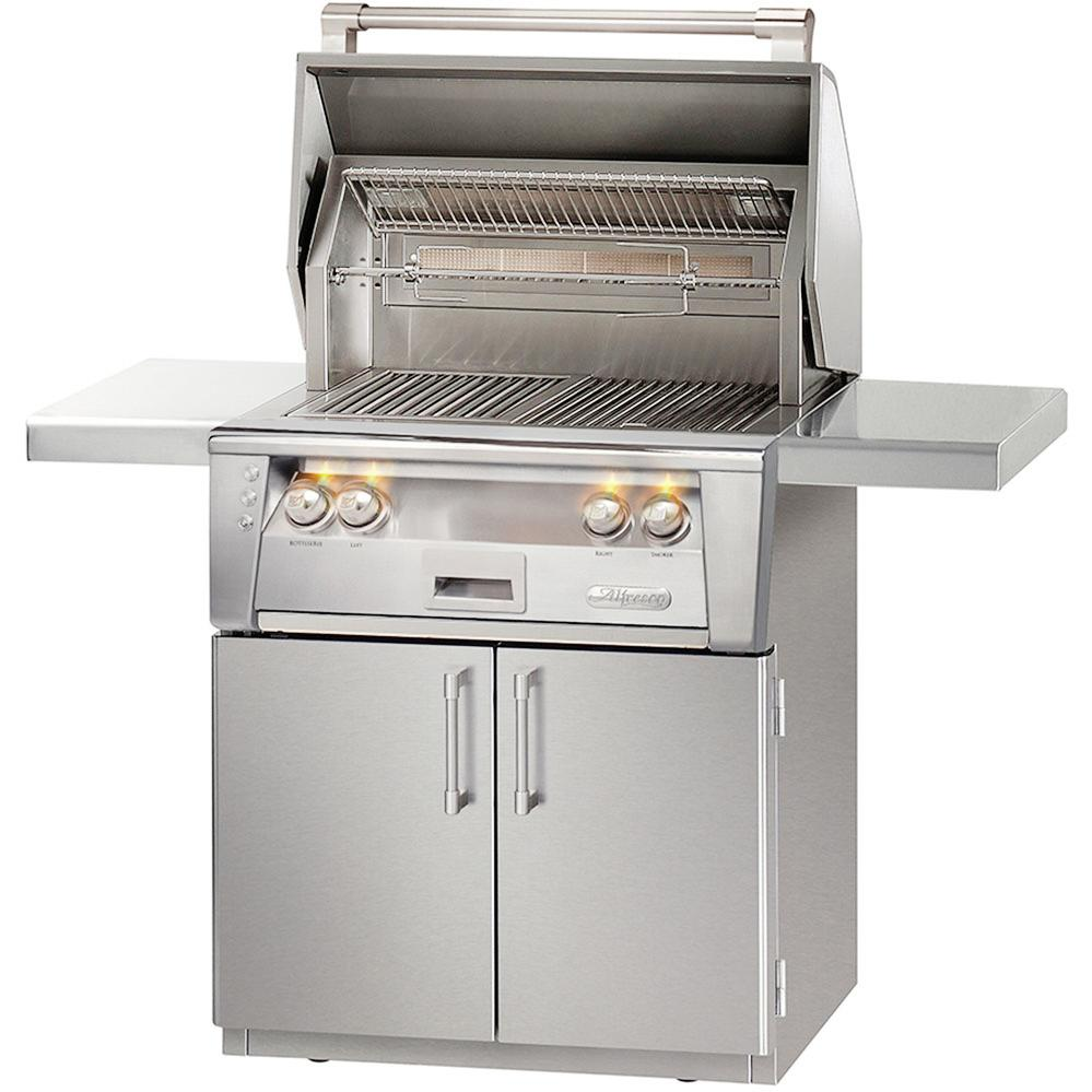 Alfresco LXE 30-Inch All Infrared Propane Gas Grill On Cart With Rotisserie - ALXE-30IRC-LP 2911842