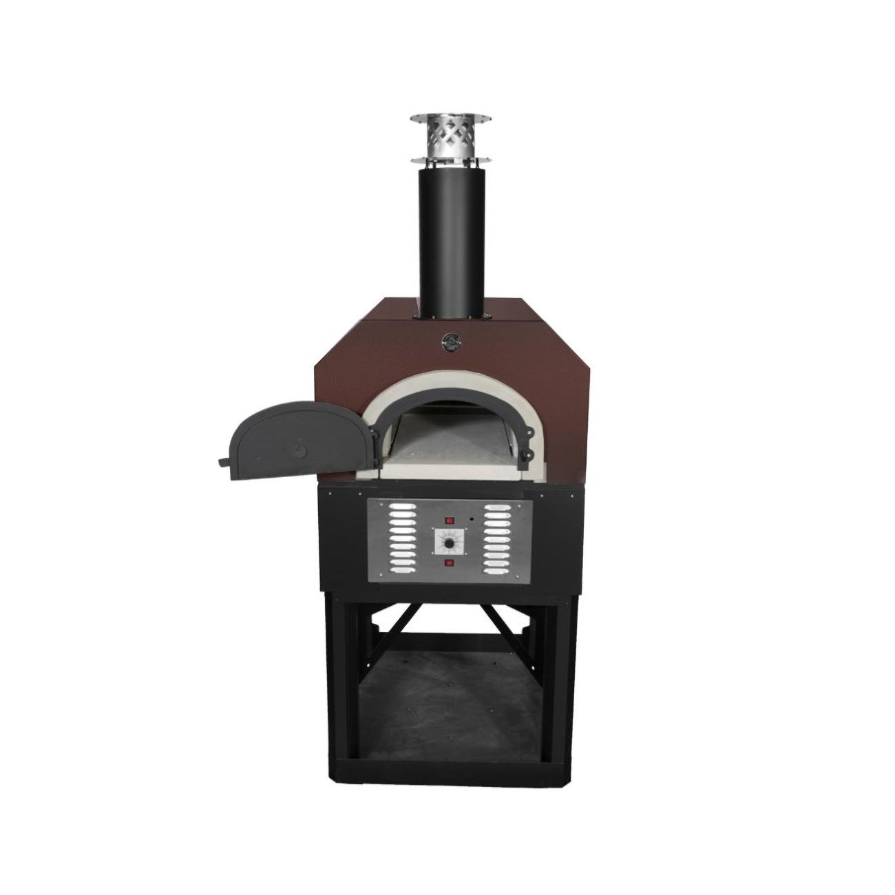 Chicago Brick Oven Cbo-750 Hybrid Residential Outdoor Pizza Oven On Stand - Propane - Copper - Cbo-o-std-750-hyb-lp-cv-r-3k