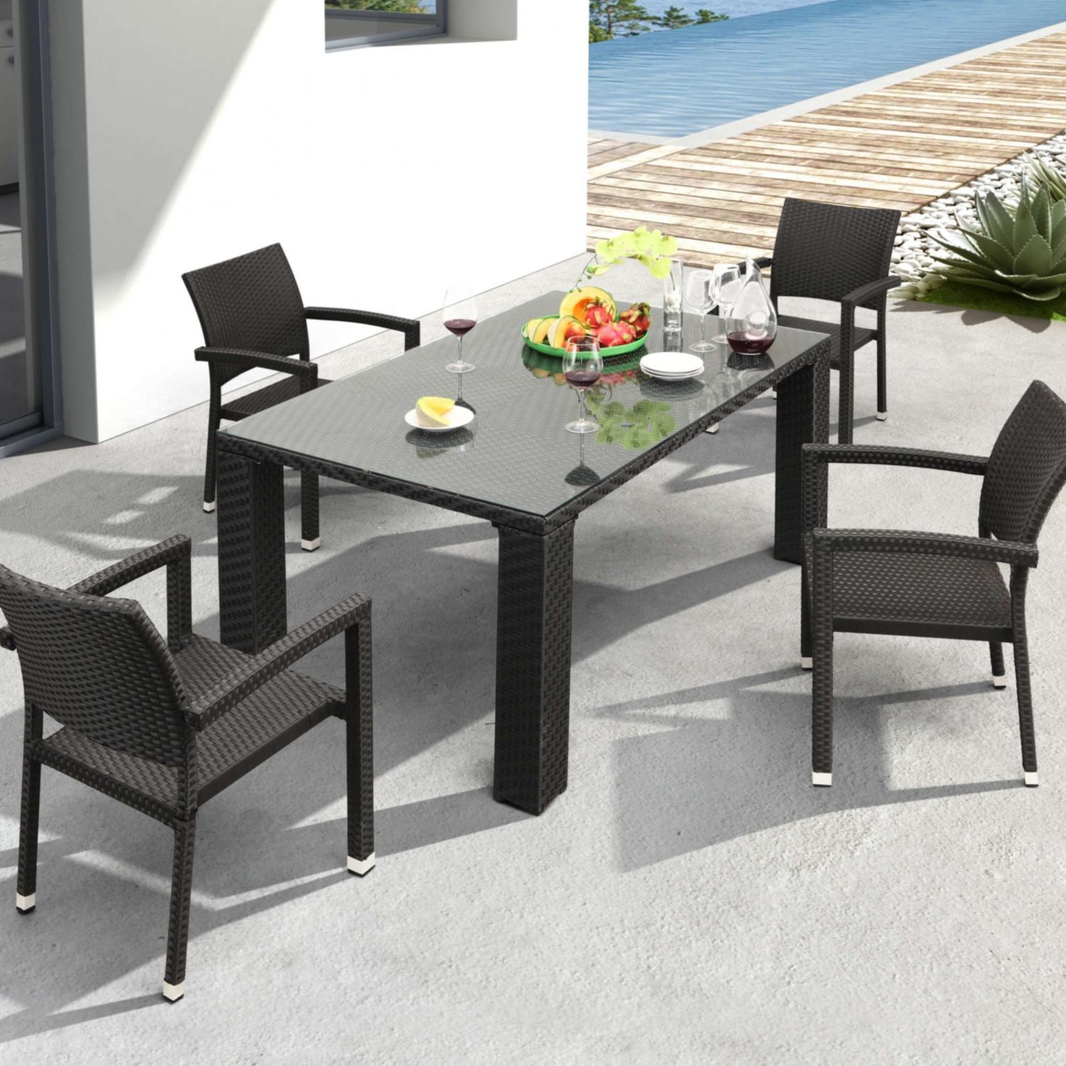Zuo Modern Boracay Patio Dining Set With Glass Top Table - Seats 4 at Sears.com