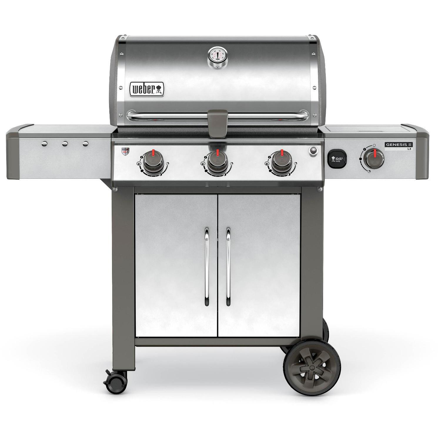 Weber Genesis II LX S-340 Natural Gas Grill With Side Bur. - Backyard Grill 3-burner Gas Grill Outdoor Grills Compare Prices