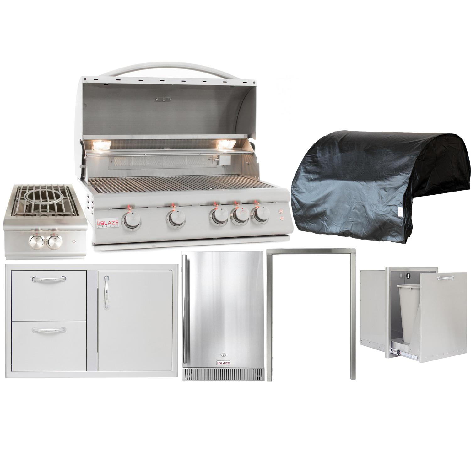 "Blaze Outdoor Products Lte 7-piece 32"" Propane Gas Outdoor Kitchen Package"