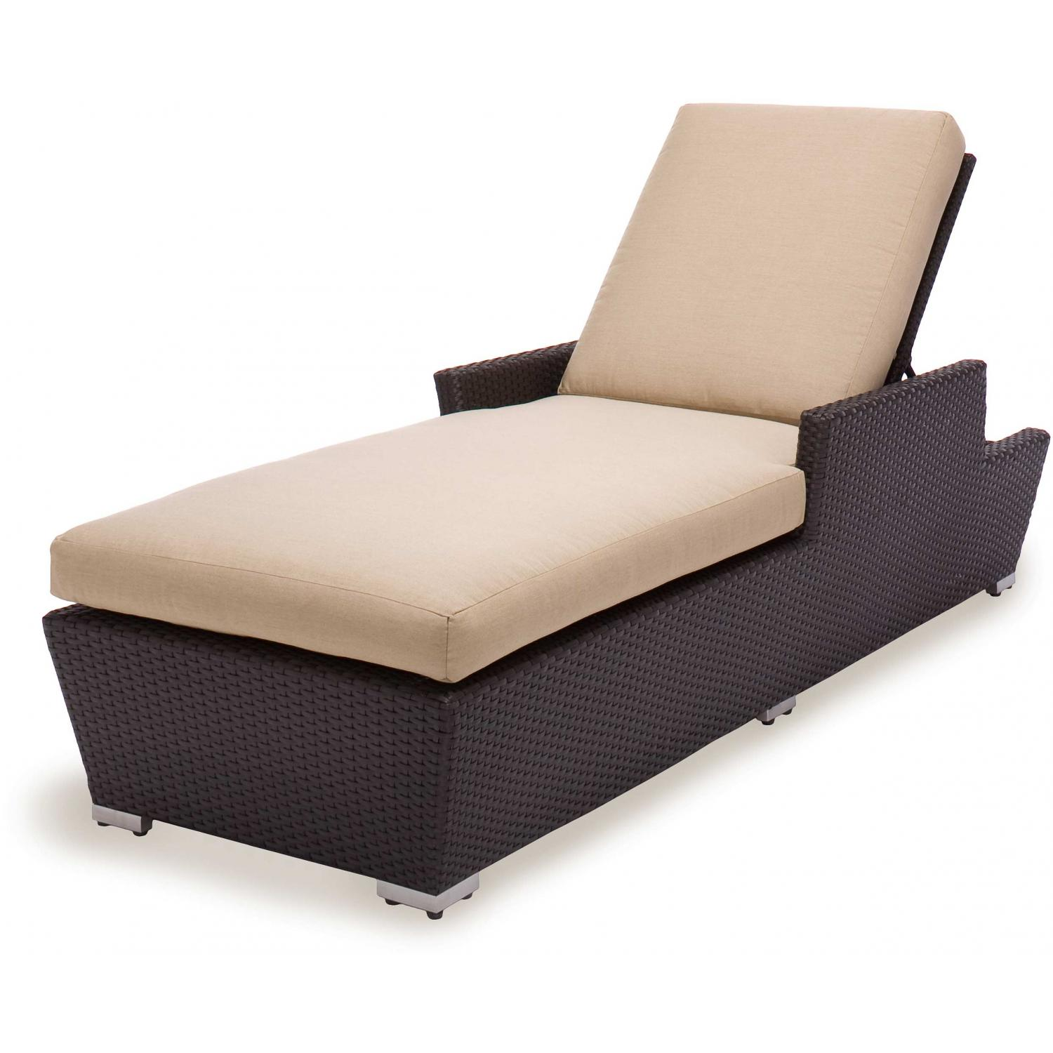 Caluco Maxime Wicker Single Chaise Lounge
