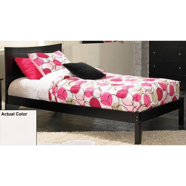 Atlantic Furniture 1122200 Metro Twin Bed Open Foot Rail - White