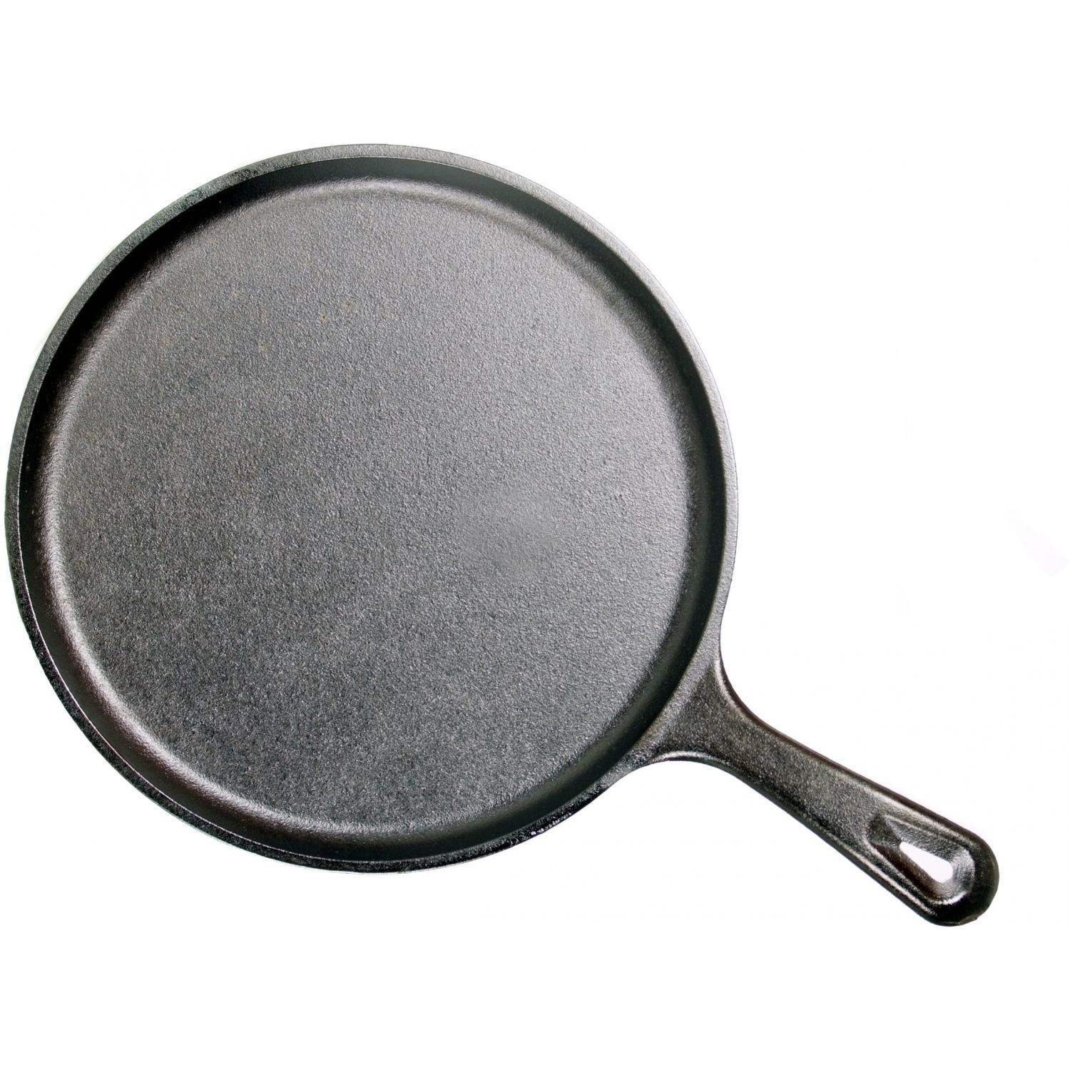 Lodge Cast Iron Round Griddle With Handle Seasoned - L9OG3
