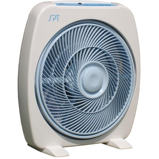 Sunpentown Box Fan With Remote Control, 12 Inch - SF1283