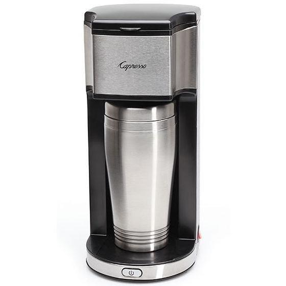 Capresso On-the-Go Personal Coffee Maker With 16oz Stainless Steel Travel Mug - 425.05 2886044