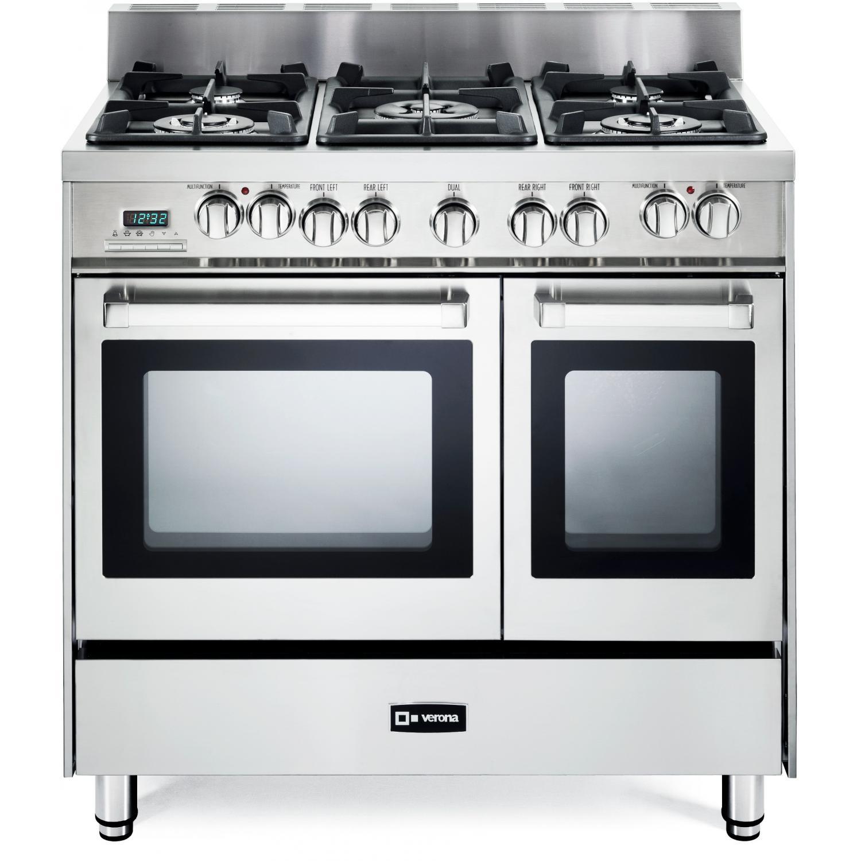 Verona Verona Vefsge365ndss 36-inch 5-burner Double Oven Dual Fuel Range - Stainless Steel