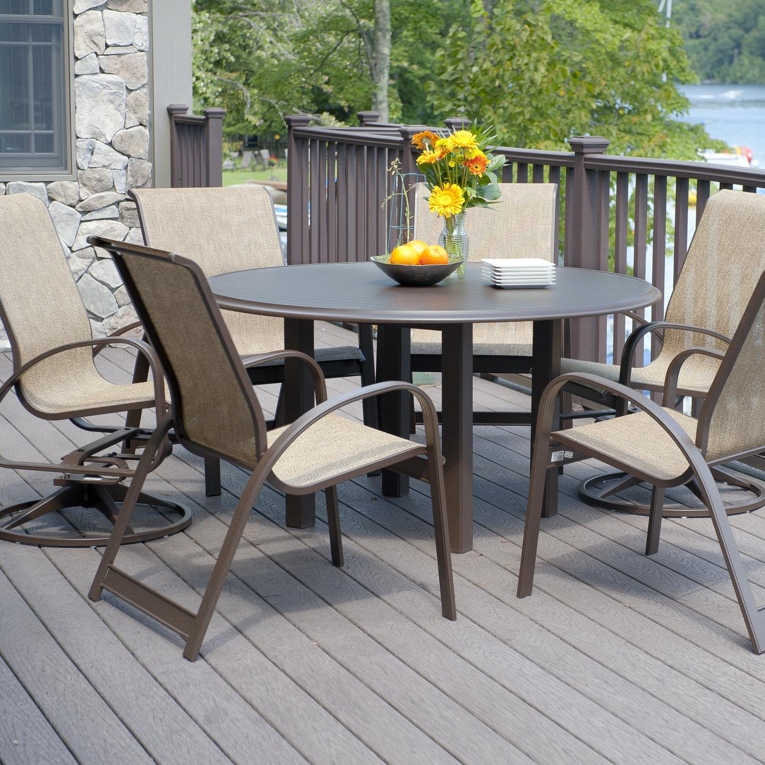 patio dining set with glass top table coffee discount id 90045 5 cf