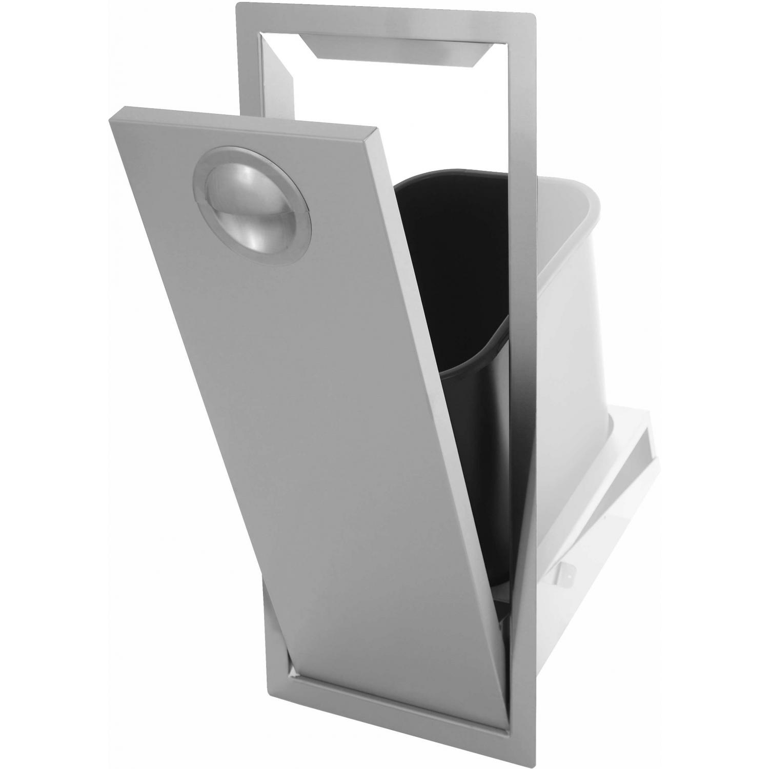 Bbqguys.com Portofino Series Tilt-out Stainless Steel Trash Bin