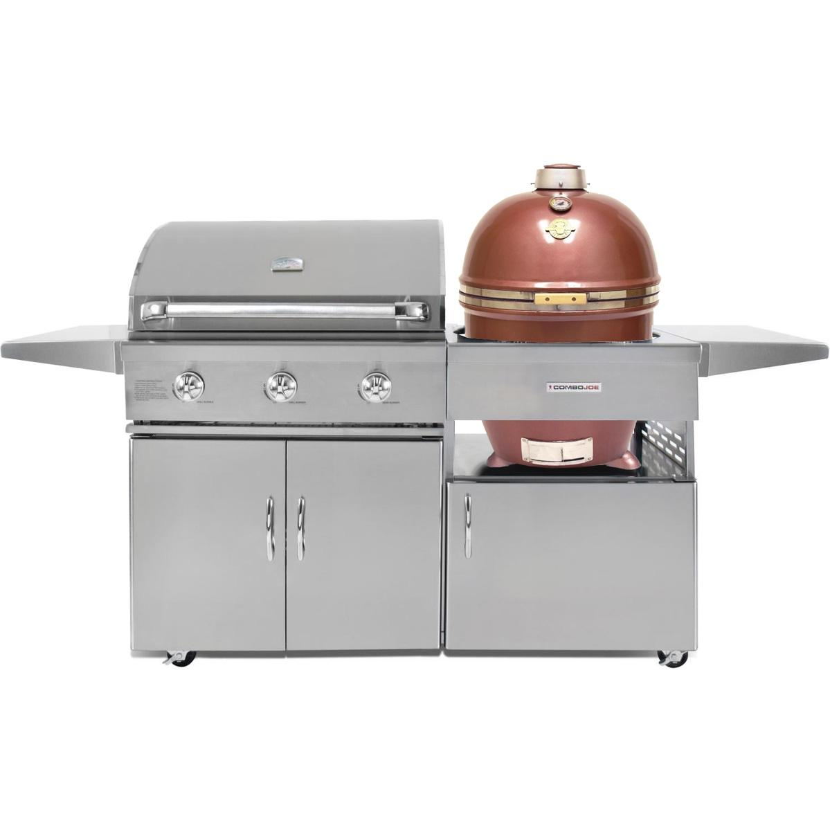 Grill Dome Infinity Series Copper Kamado And 32-Inch Natural Gas Grill On Cart, Discount ID GJ32S-NG CGJ32C GDL-CP