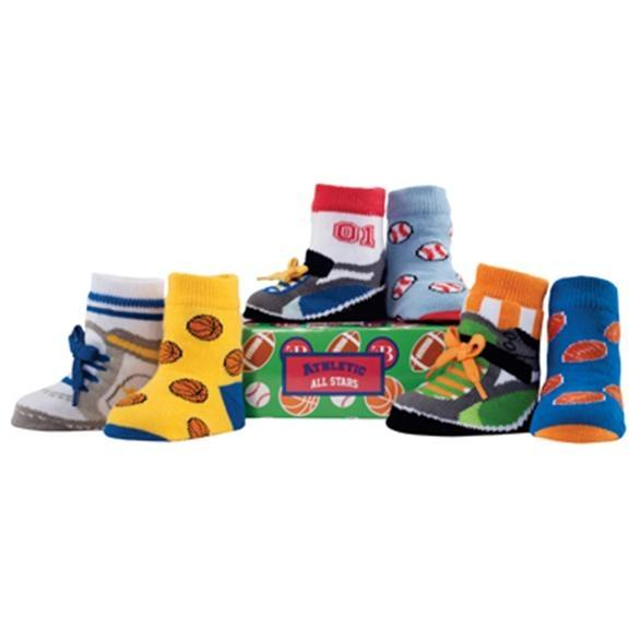 Elegant Baby Organic 6-Pair Sock Set - Athletic All Stars